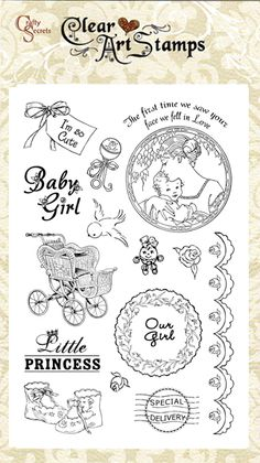 Clear stamps, Baby Girl, 50008