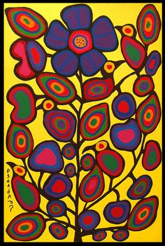 Norval Morrisseau: 'Best Canadian painter ever' Inuit Kunst, Inuit Art, Canadian Painters, Canadian Artists, Native Art, Native American Art, Native Canadian, Painting Lessons, Art Lessons