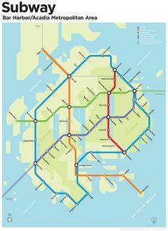 Tunnelbana map