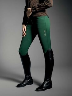 "Equiline Winter collection -- breeches water and stain repellent - in ""Basil"""