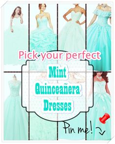 Quinceaneras aren't only historically significant, they offer young girls an opportunity to celebrate their heritage through fashion, beauty, intricate rituals. Mint Quinceanera Dresses, Your Perfect, Opportunity, Most Beautiful, Fashion Beauty, Princess, Celebrities, Girls, Unique