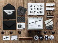 Cafe Mitte Branding By Studio Nebulator Corporate Identity, Corporate Design, Identity Design, Visual Identity, Stationary Branding, Logo Branding, Logos, Brand Packaging, Gallery Wall