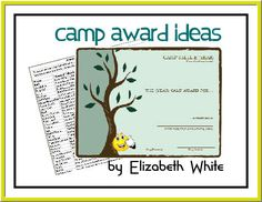 Camp Award Ideas