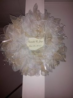 Personalized Wedding Wreath.  White and by DelightPossibilities, $60.00