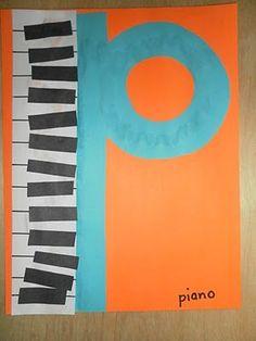 * P piano