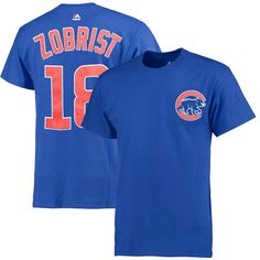 Ben Zobrist Chicago Cubs Majestic Women's Plus Size Name and Number T-Shirt - Royal - $25.59