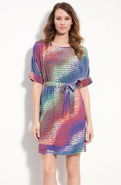 Presley Skye Print Silk Crêpe de Chine Dress