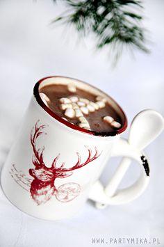 Kubek z reniferkiem i łyżeczką - partymika Wonderful Time, Tea Cups, Tableware, Christmas, Xmas, Dinnerware, Tablewares, Navidad, Noel