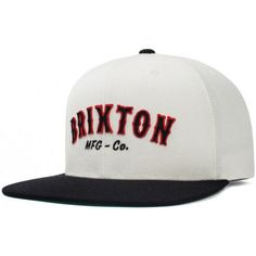 Harold Snap Back Hat by Brixton- WHITE   BLACK Brixton Hats a997429bba5a