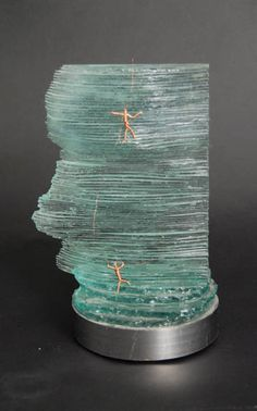 NorthFace recycled glass sculpture from Glass with a Past