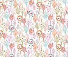Fun trees fabric by bethan_janine on Spoonflower - custom fabric