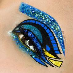 Finding Dory Inspired Eye Makeup.