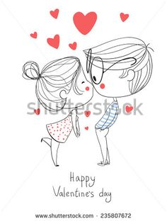 Find Valentines Day Boy Girl Kissing stock images in HD and millions of other royalty-free stock photos, illustrations and vectors in the Shutterstock collection. Thousands of new, high-quality pictures added every day. Love Drawings, Cartoon Drawings, Pencil Drawings, Art Drawings, Valentines Day Drawing, Valentines Art, Happy Valentines Day, Boy And Girl Drawing, Boy And Girl Sketch