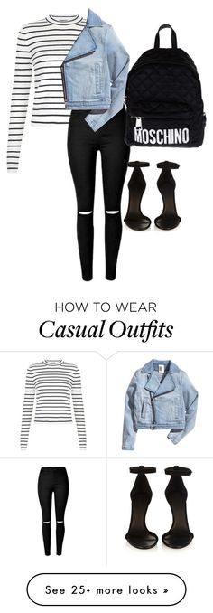 """""""the casual friday!"""" by itastepeppermint on Polyvore featuring Isabel Marant, Moschino, women's clothing, women, female, woman, misses and juniors"""