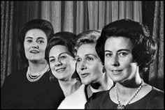 Joan Sutherland, Renata Tebaldi, Elizabeth Schwarzkopf and Lisa della Casa by Met photographer Louis Mélançon, taken in the 1950s