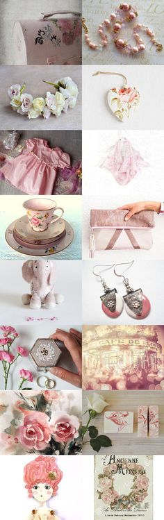 Collecting Pink (Roses) by FrenchPaperMoon on Etsy--Pinned+with+TreasuryPin.com