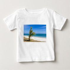 public beach of Flic en Flac Mauritius overlooking Baby T-Shirt - white gifts elegant diy gift ideas