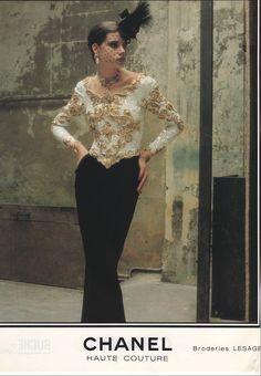 Chanel 1983 Arthur Elgort Haute Couture Kampagne 8