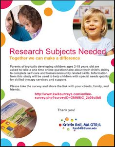 Survey for Self Care Skills  -  Pinned by @PediaStaff – Please Visit http://ht.ly/63sNt for all our pediatric therapy pins
