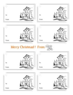 *FREE* printable Christmas gift tags from Sketchy Styles! Aren't they adorable?