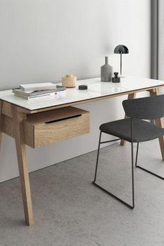 Shop the Howard Desk at 2Modern. Organization with additional storage cabinet equipped with cable management systems: rolling cabinet suitable for filing legal-size folders. Each door and drawer of this sleek collection is discreetly accessorized with a black powder-coated steel edge pull.