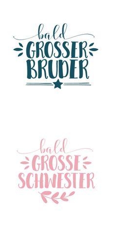 Plottermotiv: Großer Bruder und große Schwester - Plotterdatei via Makerist.de