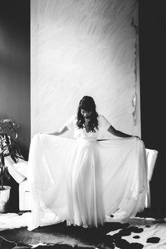Real Weddings: Meet Peggy | Finery: All Carol Hannah custom pieces | Photographer: Jenn Emerling