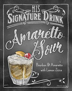 Signature Drink Signs - Chalkboard style Prints for Bar Decor at Weddings, Rehearsals, Parties Bar Drinks, Cocktail Drinks, Alcoholic Drinks, Beverages, Drink Signs, Bar Signs, Chalkboard Designs, Chalkboard Art, Chalk It Up
