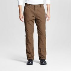 Dickies Men's Relaxed Straight Fit Canvas Flannel-Lined Carpenter Jean-