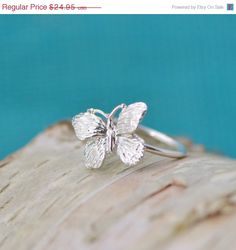 Hey, I found this really awesome Etsy listing at https://www.etsy.com/listing/202389419/fall-sale-butterfly-ring-sterling