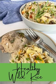 Quick and simple healthy wild rice recipe. Warm and savory with bits of apple and golden raisin. It is a perfect side dish to complement any meal. fitasafiddlelife.com Wild Rice Recipes, Golden Raisins, Side Recipes, Risotto, Side Dishes, Apple, Meals, Warm, Chicken