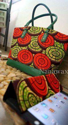 Use of Kitenge fabric on bags is such a genius move ~African fashion, Ankara, kitenge, Kente, African prints, Senegal fashion, Kenya fashion, Nigerian fashion, Ghanaian fashion ~DKK