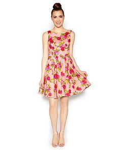 BEST BETSEY FLORAL DRESS PINK MULTI