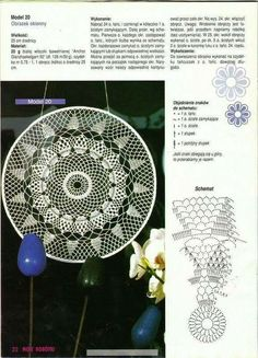 "Photo from album ""Moje robotki on Yandex. Crochet Diagram, Crochet Motif, Crochet Doilies, Crochet Stars, Crochet Circles, Crochet Stitches Patterns, Doily Patterns, Dream Catcher Patterns, Flower Chart"