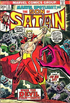 Marvel Spotlight13 Son of Satan cover by John Romita