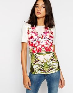 Ted Baker T-shirt in Mirrored Tropical Print