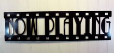 Now Playing, New Metal Wall Art, Home Theater Decor, Contemporary Movie Sign in Wall Sculptures | eBay