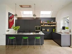 Clean-lined foodie kitchen