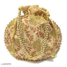 Pouches & Potlis Stylish Women's Potli  Material: Silk Pattern: Embroidered Multipack: 1 Sizes:  Free Size (Width Size: 9 cm) Country of Origin: India Sizes Available: Free Size *Proof of Safe Delivery! Click to know on Safety Standards of Delivery Partners- https://ltl.sh/y_nZrAV3  Catalog Rating: ★4.2 (1718)  Catalog Name: Elite Classy Women Pouches & Potlis CatalogID_1019739 C73-SC1077 Code: 312-6410713-