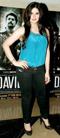 Zarine Khan at the premiere of 'David'