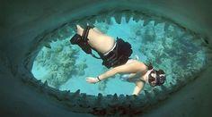 Roberta mancino floating in water