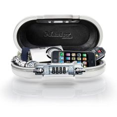 Lightweight and portable personal safe protects MP3 players, cell phones, cameras, gaming devices, cash, credit cards, jewelry, keys, passports, sunglasses or other small valuables.Cable can be wrapped tightly to the safe or wrapped securely around a fixed object; and doubles as a carrying handle.