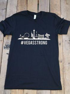 c5f6057f344 Black unisex  vegasstrong shirt with strip silhouette Fish Fashion