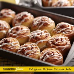Simplify your Sunday brunch with this recipe for Refrigerated No Knead Cinnamon Rolls