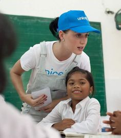 Katy volunteering with UNCIF