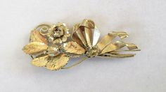 "$17.00 3 1/4"" Tall Signed STERLING Silver Flower Bouquet Brooch-Vintage by feathersoup on Etsy"