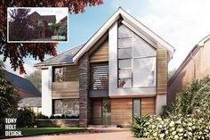 jpg – Home decoration ideas and garde ideas Bungalow Conversion, House Cladding, Exterior Remodel, House Extensions, Modern House Plans, House Front, Exterior Design, Building A House, Build House