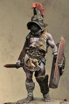 """Myrmillo"" gladiator  Escultor:Charles Vaquero  Pintor:Alex Cortina"