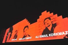 """Roger Waters the Wall Live concert istanbul 4/8/2013. The term """"Those who died in the State Teror"""" was used by Waters as the pictures were reflected to the Wall  in İstanbul Concert. Roger Waters yaşamını yitirenler için, """"Devlet teröründe ölenler"""" ifadesini kullandı. #direngeziparkı #occupygezi"""