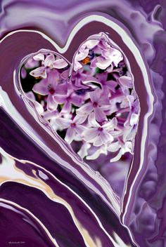 'Lilac Heart Abstract for Haiti' by Michelle BarlondSmith .. <3 the lilac shades source: http://fineartamerica.com/featured/lilac-heart-abstract-for-haiti-michelle-barlondsmith.html